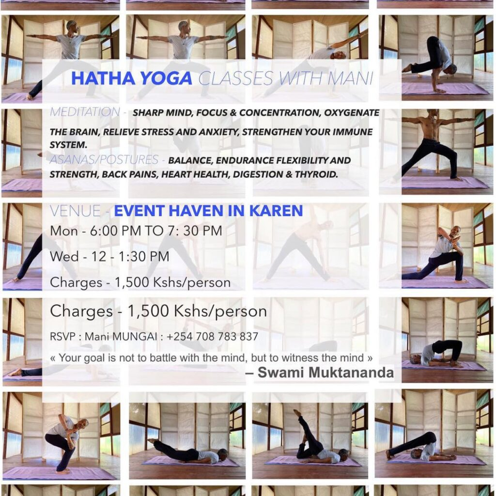 Event Haven yoga in Nairobi